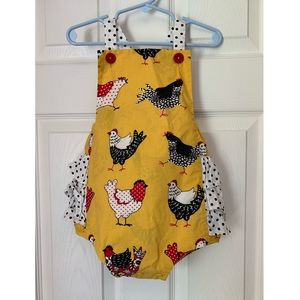 Eleanor Rose 3T Chicken Bubble romper
